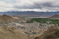Views of Leh city from the top. Stock Images