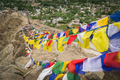 Views of Leh city from the top. Royalty Free Stock Photo