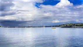 Views of leman lake in Geneva. Switzerland Stock Photography