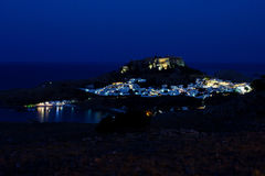 The views of Lindos Stock Photo