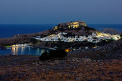 The views of Lindos Stock Photography