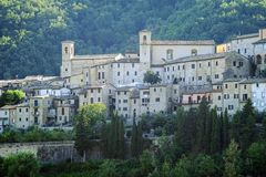 Towers of Serra San Quirico Royalty Free Stock Image