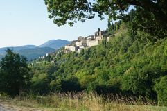 View of Serra San Quirico Stock Photos