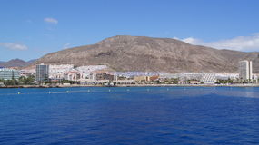 Views of Los Cristianos. From the sea Royalty Free Stock Photo