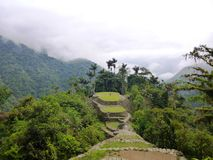 Views of the Lost City, Colombia. Views of the Lost City in Tayrona National Park, Colombia royalty free stock photos