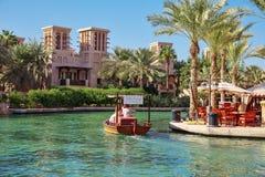 Views of Madinat Jumeirah hotel, Dubai UAE. Royalty Free Stock Photos