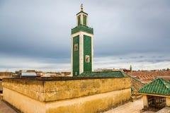 Views from Madrasa Roof Terrace in Meknes Medina, Morocco. Views from Madrasa Bou Inania Roof Terrace in Meknes Medina, Morocco Stock Image