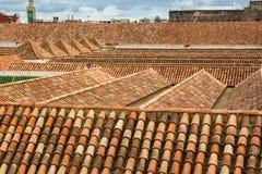 Views from Madrasa Roof Terrace in Meknes Medina, Morocco. Views from Madrasa Bou Inania Roof Terrace in Meknes Medina, Morocco Stock Photos