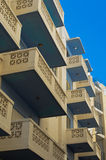 Malta, Streets of St Pauls Bay. Modern residential building with concrete balconies in St Pauls Bay, San Pawl il-Baħar, Malta Royalty Free Stock Photography