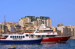 Malta - Panorama of Sliema. Modern architecture of a pleasant seaside resort - Sliema, Malta Royalty Free Stock Photo