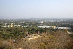 Views from Mandalay Hill. Royalty Free Stock Photos