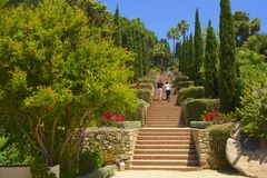 Views from Marimutra garden in Blanes, Spain Royalty Free Stock Image