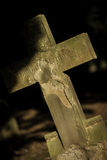 Cross Marker In Grave Yard Royalty Free Stock Photos