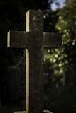 Cross Marker In Grave Yard Royalty Free Stock Photography