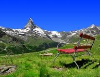 Views of the Matterhorn. Swiss Alps Stock Images