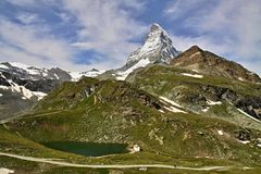 Views of the Matterhorn - Swiss Alps Stock Image
