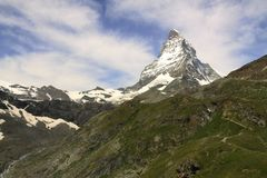 Views of the Matterhorn - Swiss Alps Stock Photography