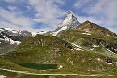 Views of the Matterhorn - Swiss Alps Royalty Free Stock Photo