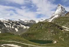 Views of the Matterhorn - Swiss Alps Stock Photo