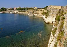 Views from an ancient Fort in the island of Corfu Royalty Free Stock Photo