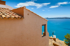 Views of Mediterranean Sea from Paguera Village. Mallorca, Spain stock photos
