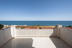Views of the Mediterranean Sea from a terrace. Royalty Free Stock Images