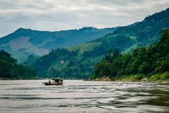 Views of the Mekong Delta from Laos South East Asia stock images