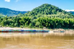 Views of the Mekong Delta from Laos South East Asia. Stock Image
