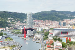 Views of modern Bilbao city, Bizkaia, Vasque Country, Spain. Stock Images