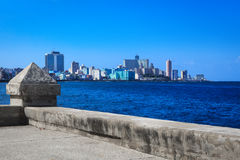 Views of the modern Havana. Promenade with views of the modern Havana Royalty Free Stock Photography
