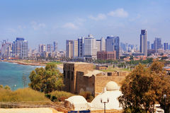 Views of modern Tel Aviv Royalty Free Stock Image