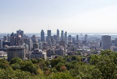 Views of Montreal from Mont-Royal Canada royalty free stock photo