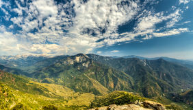 Views from Moro Rock in Sequoia and Kings Canyon National Park, California. Moro Rock is a large granite dome also found in the Giant Forest area Royalty Free Stock Photography