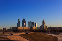 Views of Moscow,Moscow in the spring Royalty Free Stock Photos
