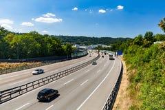 Views of the motorway A1 near the Baregg, Switzerland Royalty Free Stock Photo