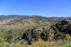 Views of Mount Arbel and rocks. israel Royalty Free Stock Image