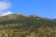 Views of Mount Arbel and rocks. israel. Rocks of Mount Arbel in Israel Stock Photo