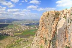 Views of Mount Arbel and rocks. isrel. Rocks of Mount Arbel in Israel Stock Photography