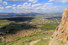 Views of Mount Arbel and rocks. isrel Royalty Free Stock Images