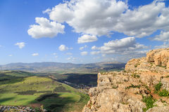 Views of Mount Arbel and rocks. isrel Stock Images