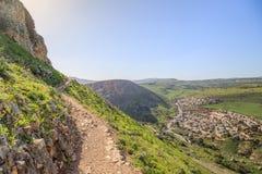Views of Mount Arbel and rocks. isrel Stock Image