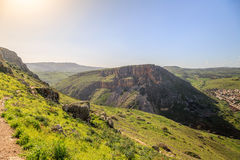 Views of Mount Arbel and rocks. isrel Royalty Free Stock Photo