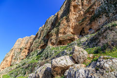 Views of Mount Arbel and rocks. isrel Stock Photo