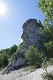 Views of Mount Camel of limestone deposits Stock Photo