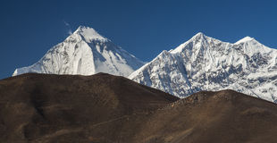 Views of Mount Dhaulagiri Royalty Free Stock Photography