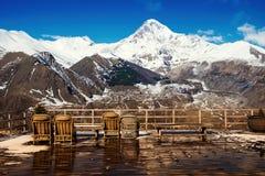 Views of Mount Kazbek Stock Photos