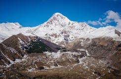Views of Mount Kazbek Royalty Free Stock Photos