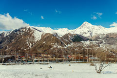 Views of Mount Kazbek Stock Photo