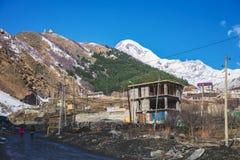 Views of Mount Kazbek Royalty Free Stock Image