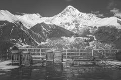 Views of Mount Kazbek Royalty Free Stock Photo